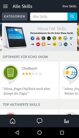 Im Skills-Bereich gibt es eine Rubrik für Skills speziell für den Echo Show. (Bild: Ingo Pakalski/Golem.de)