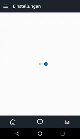 Das dauert jetzt 14 Sekunden, bis die Alexa-App die Einstellungen anzeigt. (Bild: Ingo Pakalski/Golem.de)