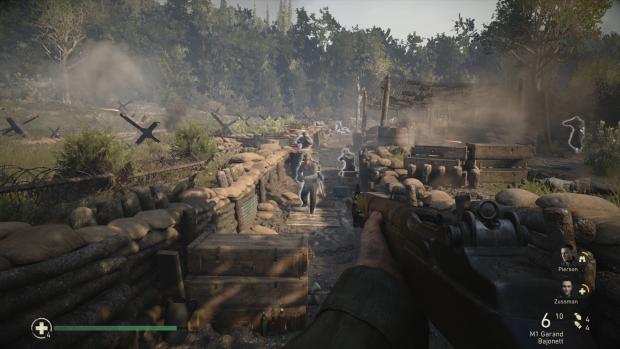 Auf Wunsch hebt ein Vorgesetzter schwer erkennbare Feinde leicht hervor. (Bild: Activision/Screenshot: Golem.de)