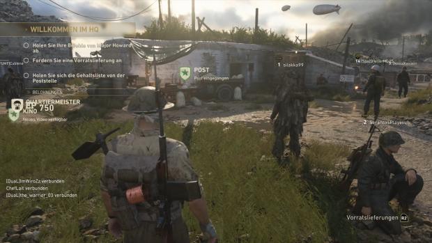 Das Multiplayer-Hauptquartier bietet unter anderem einen Schießstand. (Bild: Activision/Screenshot: Golem.de)