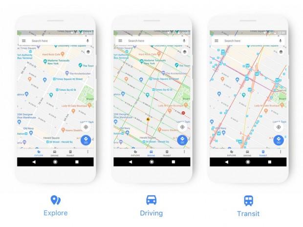 Google Maps bietet künftig je nach Nutzungssituation unterschiedliche Ansichten. (Bild: Google)
