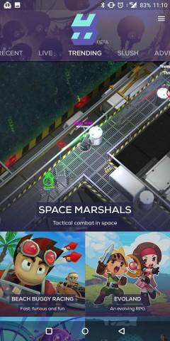 Der Startbildschirm der Hatch-App (Screenshot: Golem.de)