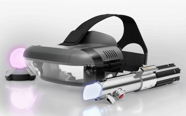 Der Leuchtball dient als Anker, dazu kommt in Jedi Challenges das Headset und das Lichtschwert von Rey. (Bild: Lenovo/Disney)