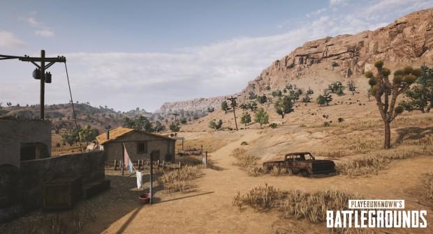 Die kommende Wüstenkarte von Playerunknown's Battlegrounds (Bild: Nvidia).