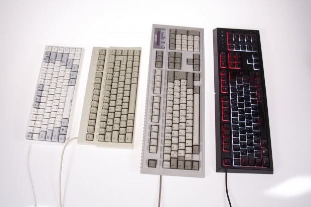 Alle vier Tastaturen des Tests nebeneinander (Bild: Martin Wolf/Golem.de)