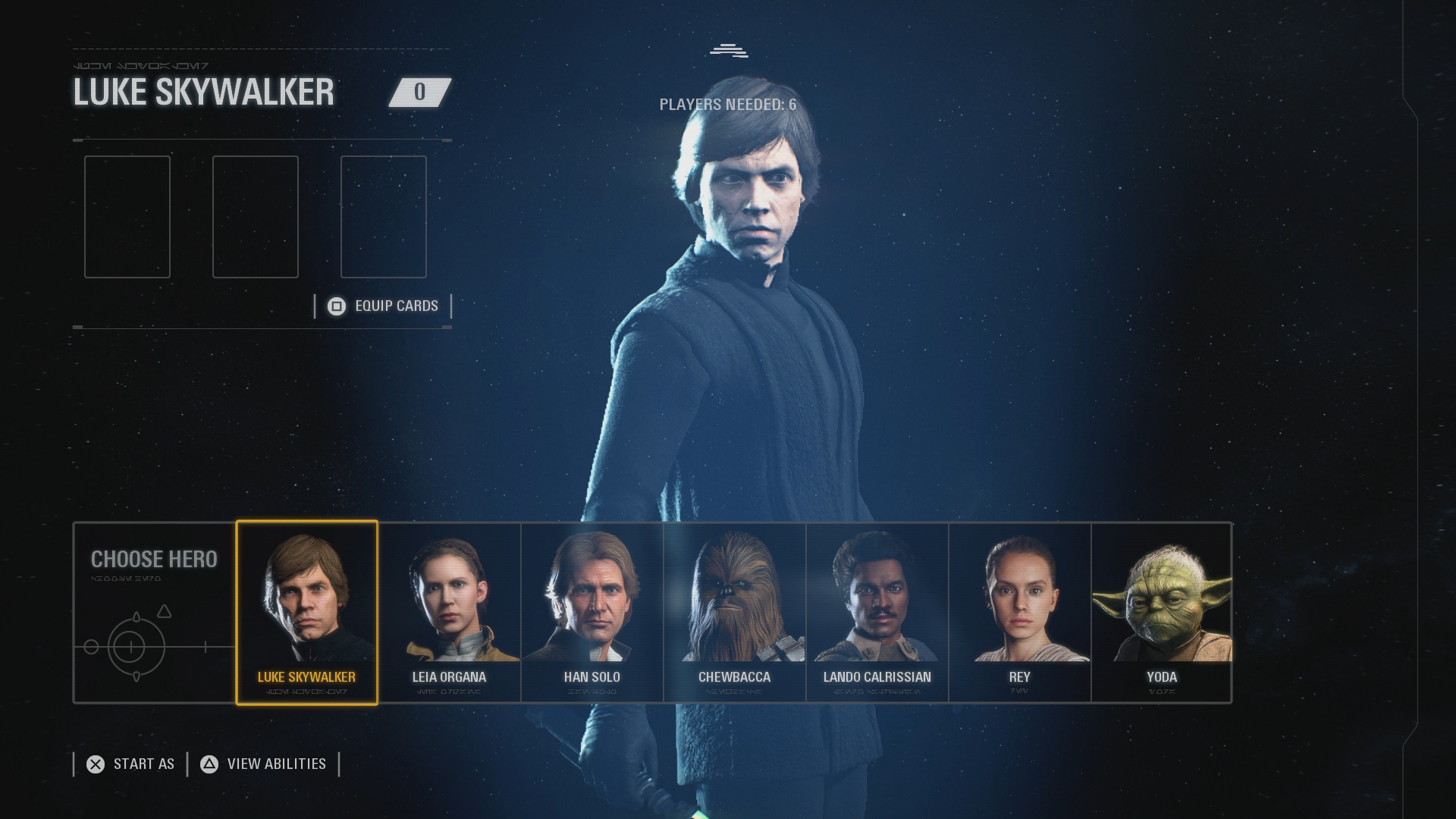 Star Wars Battlefront 2 angespielt: Sammeln ihr sollt ... - Auch Luke Skywalker ist mit von der Partie. (Bild: EA/Screenshot: Golem.de)