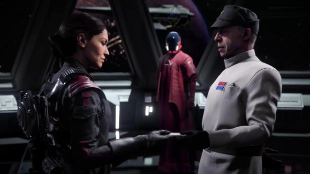Commander Iden Versio und ihr Papa, der Admiral (Bild: EA / Screenshot: Golem.de)