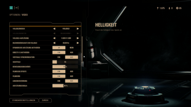 Das Grafikmenü der PC-Fassung ... (Bild: EA / Screenshot: Golem.de)