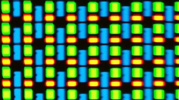 Es ist ein S-Stripe-RGB-Panel verbaut. (Foto: Sebastian Grüner/Golem.de)