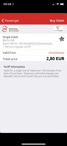 Touristen verkauft der VBB das Ticket mit sofortiger Gültigkeit. Die 2-Minuten-Regel nach dem Kauf wird aber nur auf der deutschen Webseite erklärt. (Screenshot: Golem.de)
