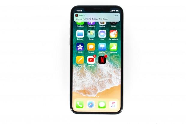 Das iPhone X gehört zu den Smartphones mit dem besten Verhältnis zwischen Display- und Gehäusegröße. (Bild: Martin Wolf/Golem.de)