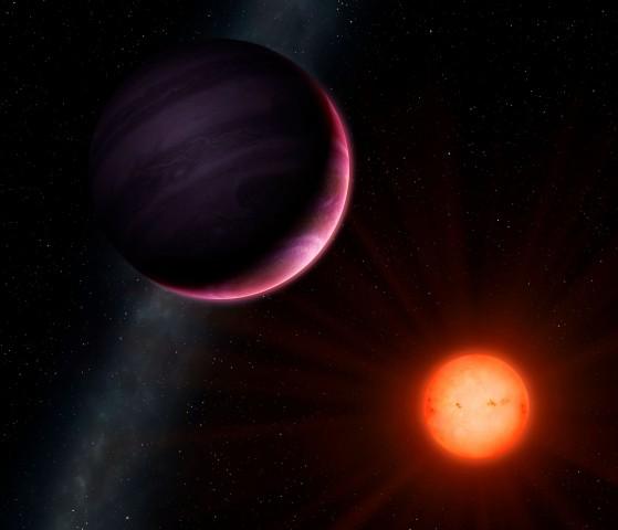 Der Zwergstern NGTS-1 mit seinem Hot-Jupiter NGTS-1b (Bild: Mark Garlick/University of Warwick)