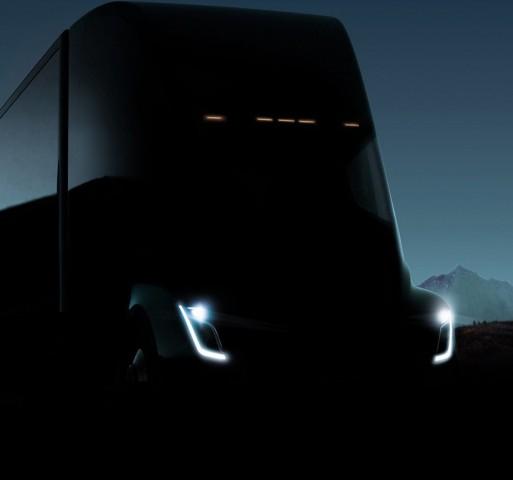 Teslas E-Truck auf der Einladung zur Präsentation (Bild: Tesla)