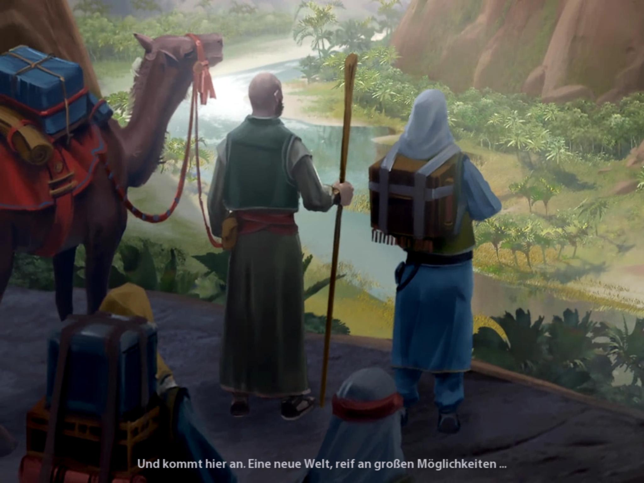 Civilization 6 auf iPad angespielt: Rundenbasierte Spieltiefe erobert Flachdisplay - Selbst das kurze Intro fehlt nicht. (Bild: 2K Games/Screenshot: Golem.de)