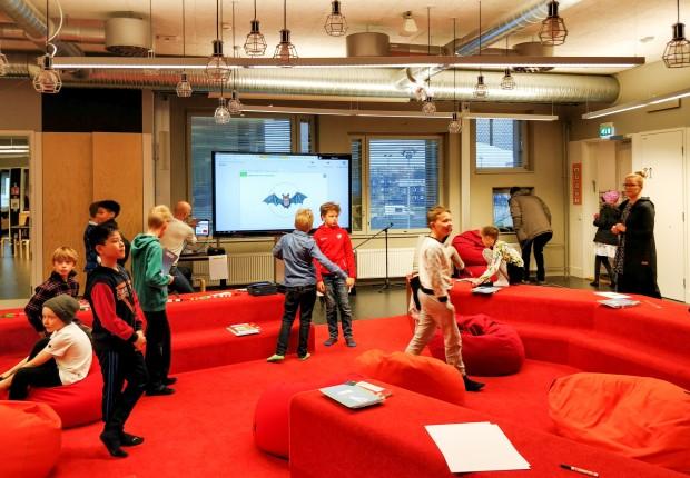 Der zentrale Unterrichtsraum der Elementarschule von Kalasatama in Helsinki (Bild: Tobias Költzsch/Golem.de)