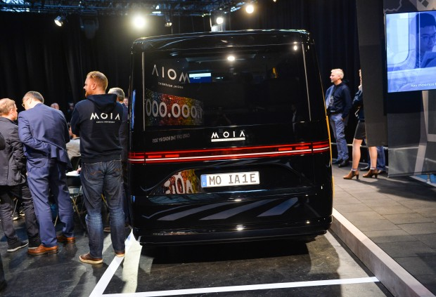 Der Moia-Bus von Volkswagen (Bild: Noam Galai/Getty Images for Techcrunch)