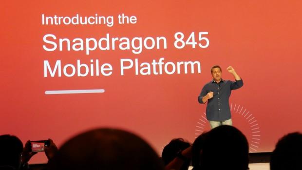 Qualcomms zeigt den Snapdragon 845. (Foto: Marc Sauter/Golem.de)