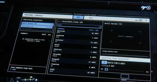 An Terminals können Waren gekauft werden. Hier: Die MS-DOS-Version. (Bild: CIG/Screenshot: Oliver Nickel/Golem.de)
