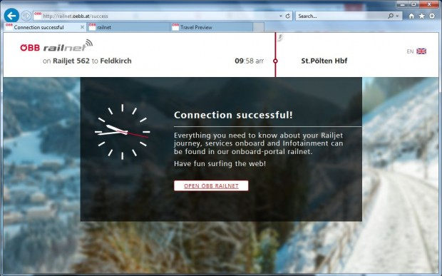 Vorbildlich und schönes Design im WLAN-Portal der ÖBB. (Screenshot: Golem.de)