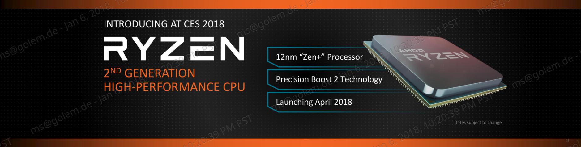 Pinnacle Ridge: Ryzen 2000 und Zen 2/3 erklärt - Ryzen 2000 wird in 12LP gefertigt. (Bild: AMD)