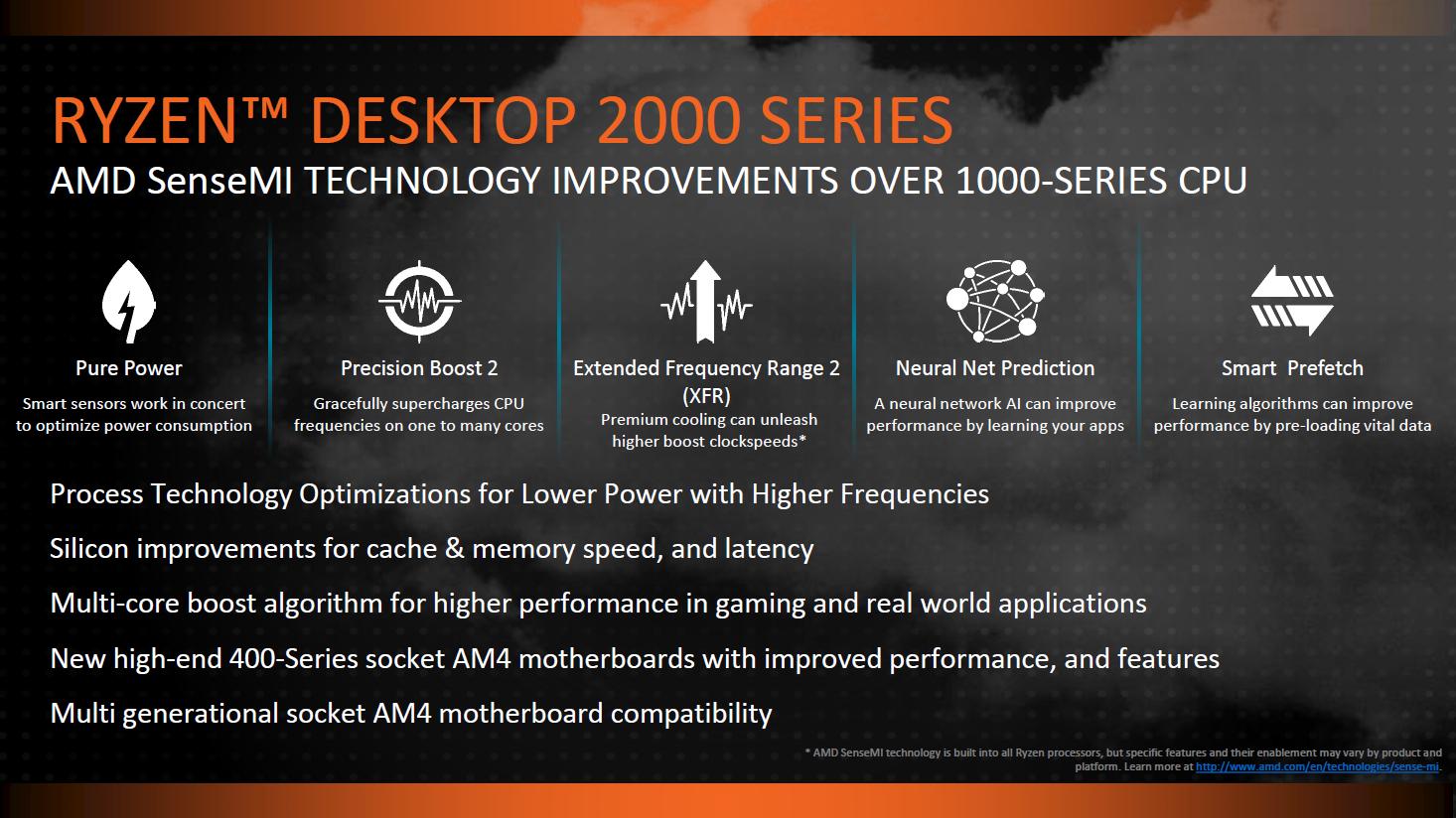 Pinnacle Ridge: Ryzen 2000 und Zen 2/3 erklärt - Zen+ umfasst kleinere Architekturverbesserungen. (Bild: AMD)