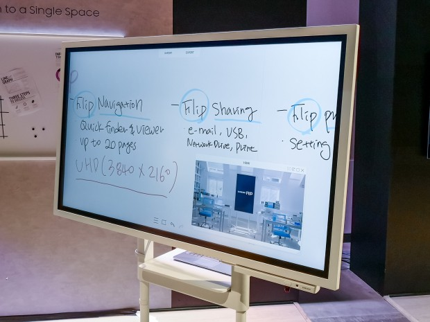 flip samsung stellt elektronisches whiteboard vor. Black Bedroom Furniture Sets. Home Design Ideas