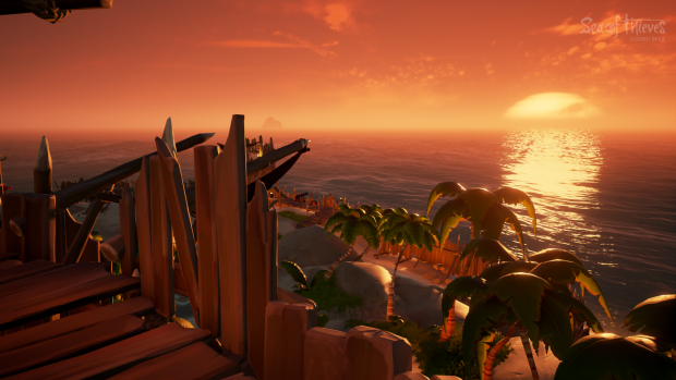 Sea of Thieves bietet tolle Sonnenuntergänge. (Bild: Microsoft/Screenshot: Golem.de)