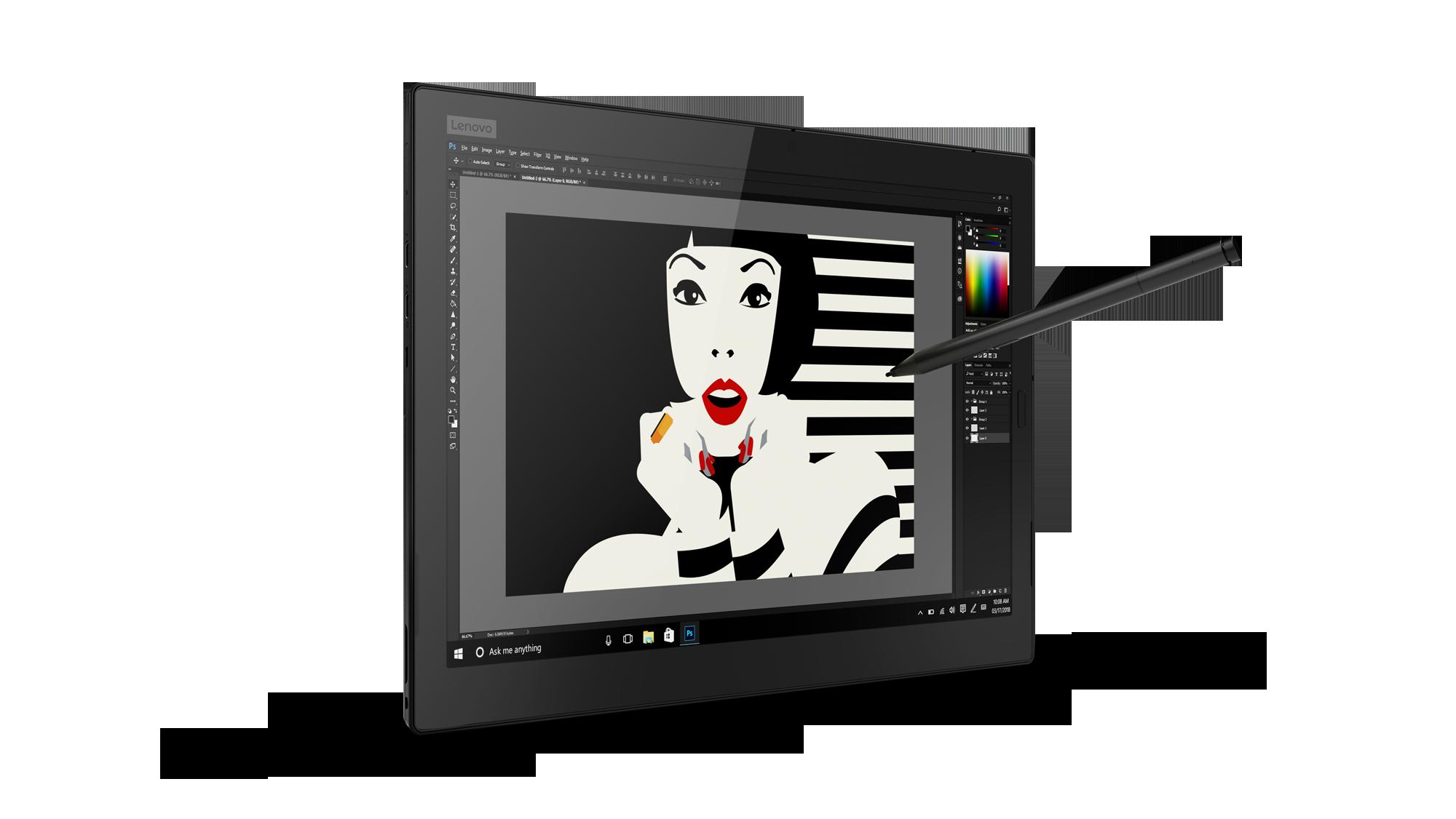 Lenovo Thinkpad X1: Dolby Vision für das Yoga, 3K-Display für das Tablet - Lenovo Thinkpad X1 Tablet (Bild: Lenovo)