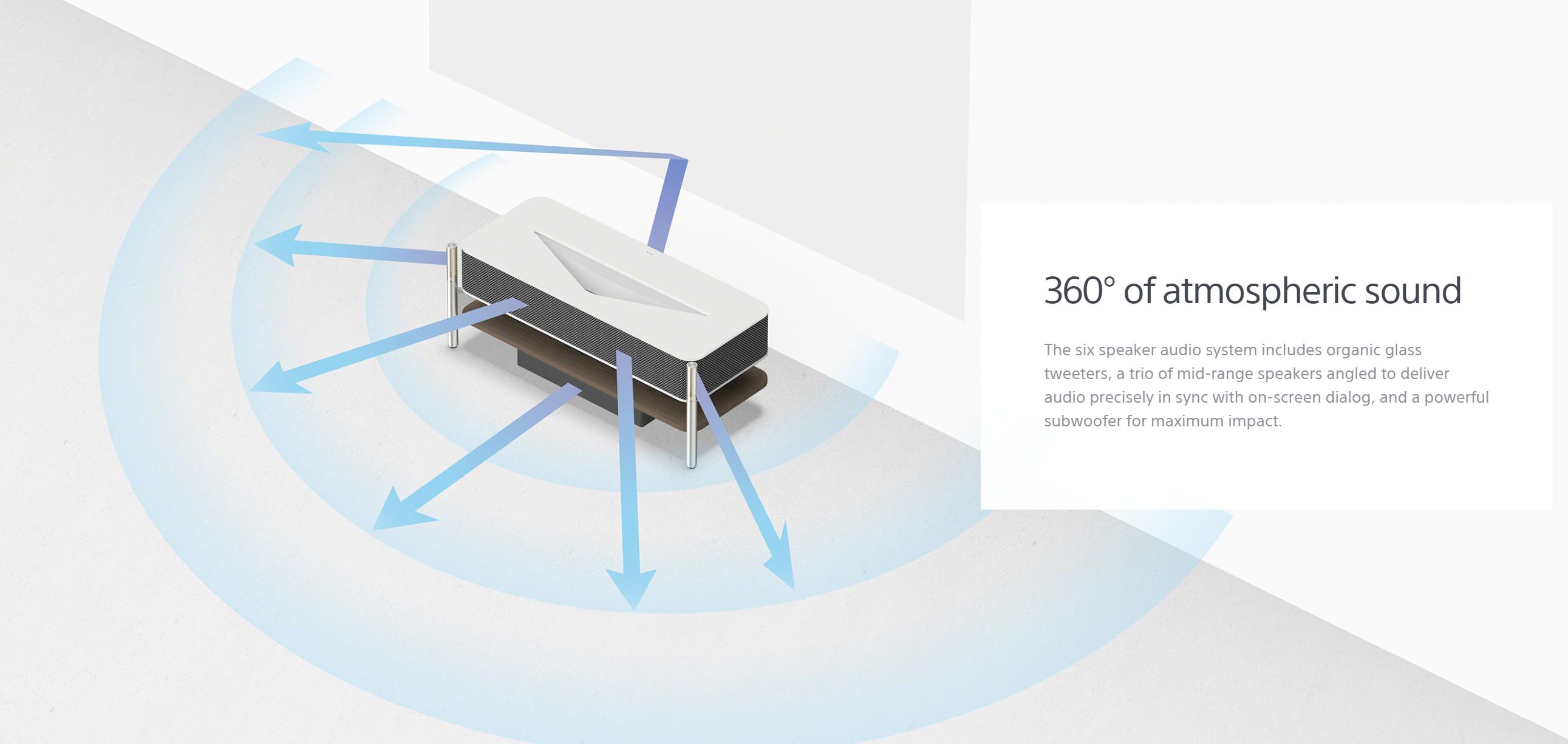 Sony LSPX-A1: 30.000-Dollar-Beamer strahlt 80 Zoll aus 0 cm Entfernung - Sony LSPX-A1 (Bild: Sony)