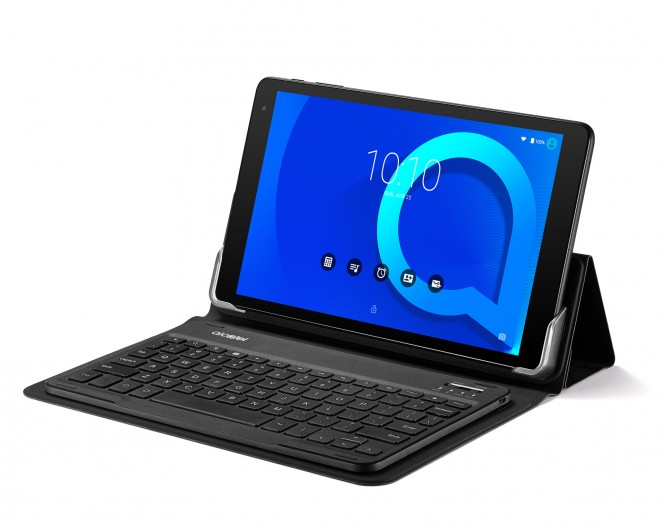 Alcatel 1T 10 mit Bluetooth-Tastatur  (Bild: Alcatel)