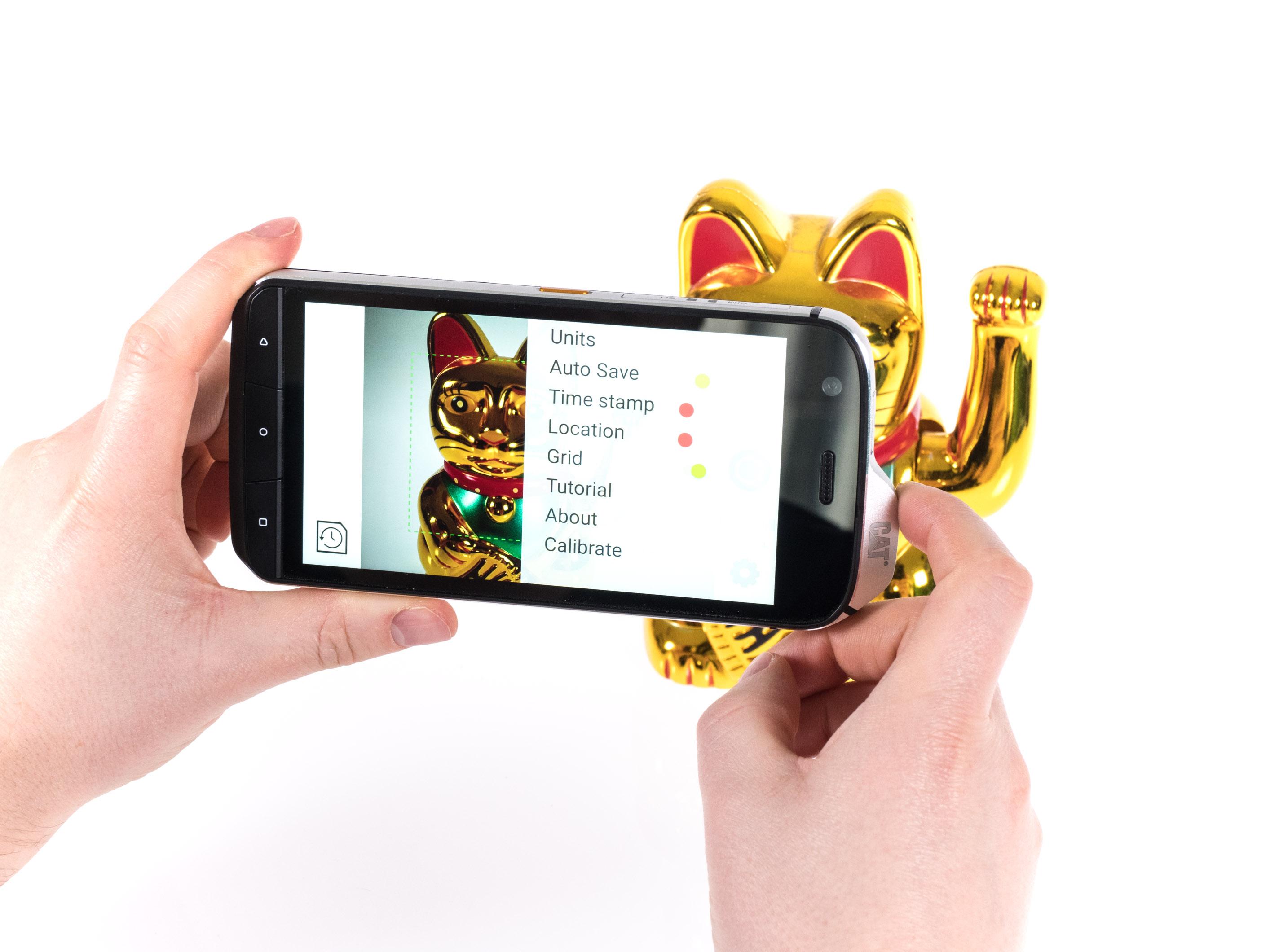 Cat S61 im Hands on: Smartphone kann Luftreinheit und Entfernungen messen - S61 mit 16-Megapixel-Kamera (Bild: Martin Wolf/Golem.de)