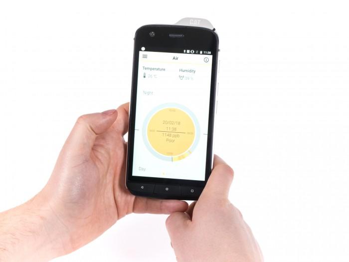 Die App zeigt die Luftverschmutzung der Umgebung. (Bild: Martin Wolf/Golem.de)