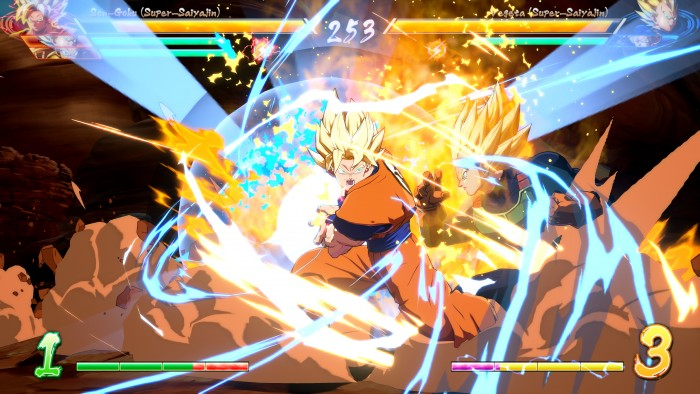 Ein Klassiker: Son-Goku gegen Vegeta (Rechteinhaber: Namco Bandai, Screenshot: Marc Sauter/Golem.de)
