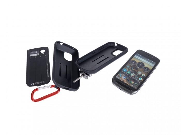 Explore-Smartphone mit einem Akkumodul und zwei Hüllen (Martin Wolf/Golem.de)