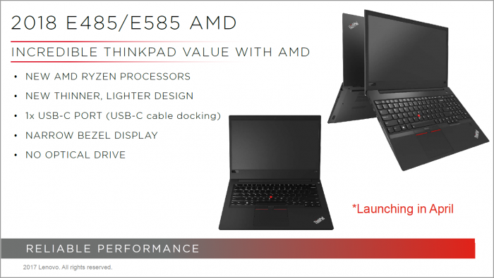 AMD-Thinkpads (Bild: Lenovo)