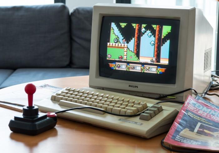 Sam's Journey auf unserem C64C (Bild: Martin Wolf/Golem.de)