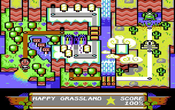 Auf einer Karte sind die verschiedenen Level und Welten von Sam's Journey eingezeichnet. (Screenshot: Knights of Bytes)