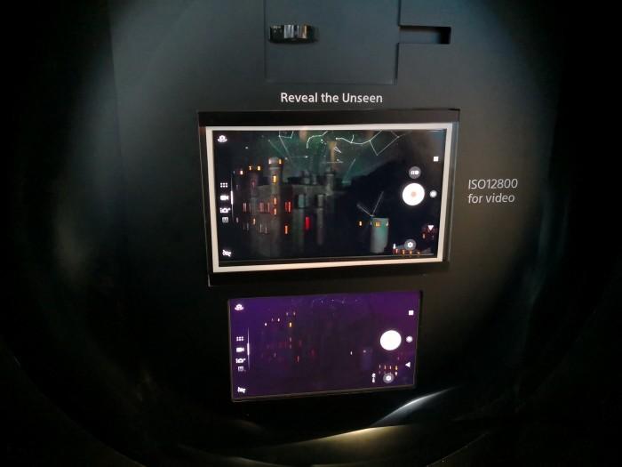 Oben das Sucherbild der neuen Dualkamera von Sony, unten das eines Xperia XZ1 (Bild: Tobias Költzsch/Golem.de)
