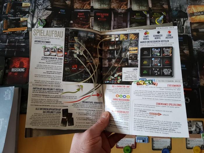 Das Tagebuch beschreibt Spielaufbau und -ablauf. (Bild: Achim Fehrenbach)