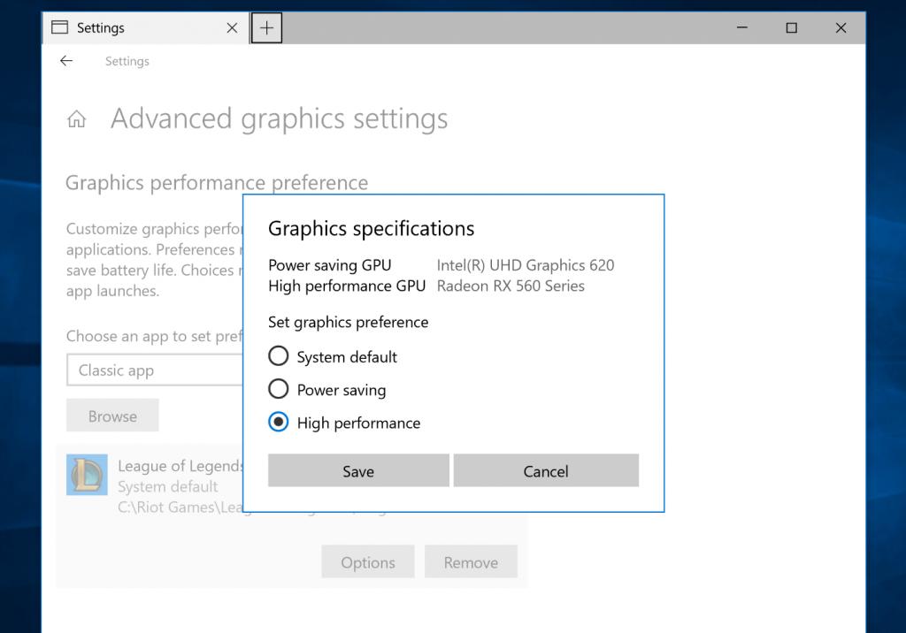 Insider Preview 17093: Windows 10 schaltet zwischen dGPU und iGPU um