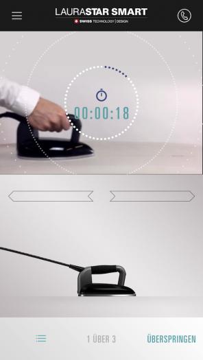 Wir üben die Bügelbewegung. (App: Laurastar/Screenshot: Golem.de)
