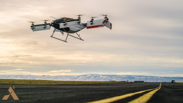 Vahana-Prototyp Alpha One in der Luft (Foto: Airbus)