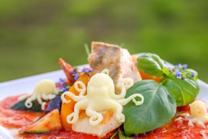 Ein Oktopus aus Kartoffelpüree (Bild: Procusini)