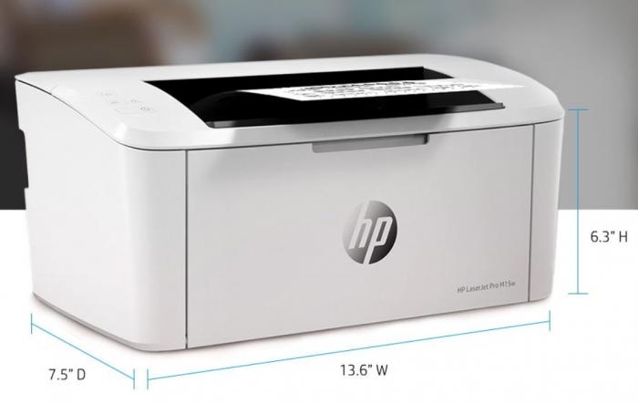 HP Laserjet Pro M15w Abmessungen (Bild: HP)