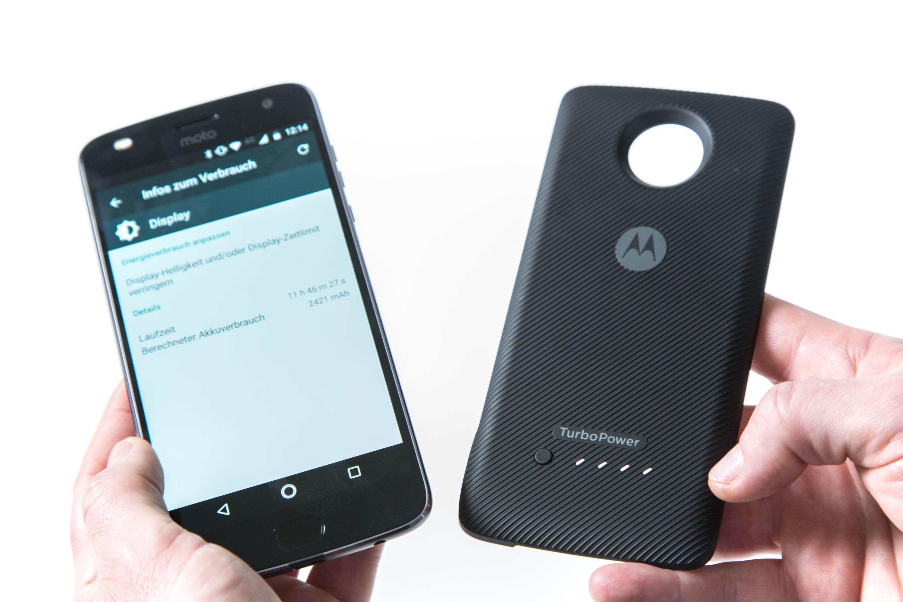 Modulare Smartphones: Lenovo kann Moto-Mods-Versprechen nicht halten - Lenovos Turbo Power Pack Mod (Bild: Martin Wolf/Goldm.de)