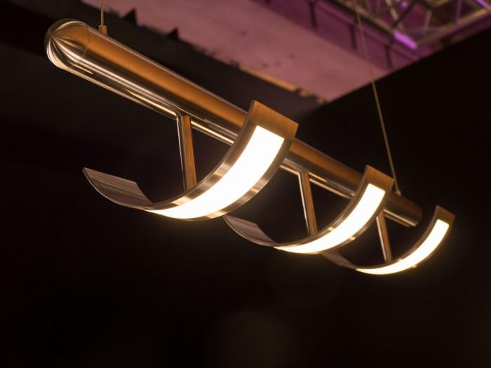Ein weiterer Leuchtenprototyp von Oledworks (Bild: Martin Wolf/Golem.de)