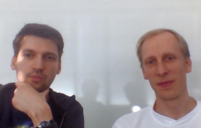 Markus (l.) und Robert, die Gründer des Projekts (Bild: Oliver Nickel/Golem.de)