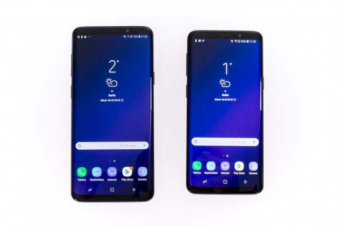 Links das Galaxy S9+, rechts das Galaxy S9 (Bild: Tobias Költzsch/Golem.de)
