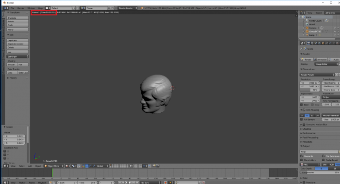 Das Live-Rendering geht fix. (Bild: Blender Foundation/Screenshot: Golem.de)