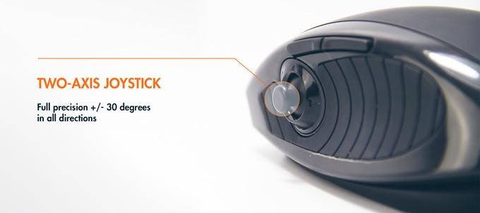 Lexip: Joystick, Analogstick und Gamingmaus in einem - Lexip-Maus (Bild: Lexip)